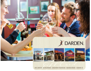 Receive a Darden Restaurant Gift Card